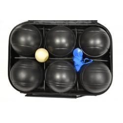 Петанк черный / игра Боча, набор из 6 шаров