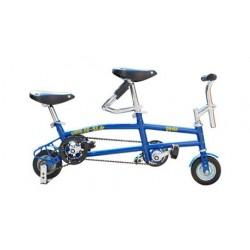 Трюковой мини велосипед (Mini Bike Tandem) синий