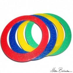 Кольцо для жонглирования 24 см с блестками, 80 гр.