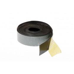 Комплект из клейкой резины и пластиковой ленты для покрытия обручей и перекладин 38мм x1.2мм x10м черный