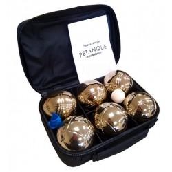 Петанк золотой / игра Боча, набор из 6 шаров