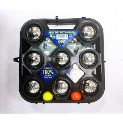 Петанк стальной, набор для игры из 6 шаров