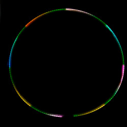 Хула Хуп Juggle Dream Aurora 2 светодиодный, 95 см
