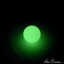 """Мяч для жонглирование """"на отскок"""" (Turbo bounce ball) светящийся в темноте. Полимер, 75 мм, 93% отскок"""