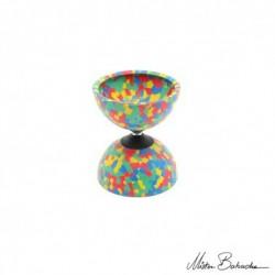 Диаболо JUMBO HARLEQUIN (Diabolo) 4 цвета, диаметр 130 мм., ширина 155 мм., 335 гр.