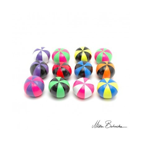 Мяч для классического жонглирования (Beanbag) STAR, 8 панелей/2 цвета, 130 гр., 66 мм. Перемешанные цвета.