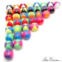 Мяч для классического жонглирования (Beanbag) FLUO, 2 цвета, 130 гр., 66 мм.