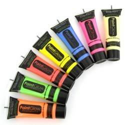 Краски для боди-арт PaintGlow 10мл, светящийся в темноте и ультрафиолете
