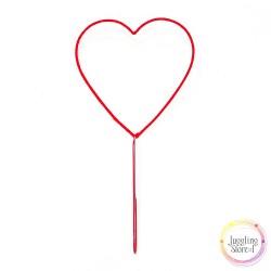 Ракетка Сердце для выдувания мыльных пузырей