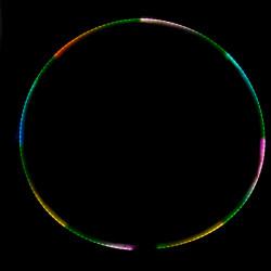 Хула Хуп Juggle Dream Aurora Pro светодиодный, 86 см
