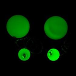 Контактные пои PRO GLOW, 80 мм, 150 гр., светятся в темноте