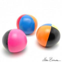 Мяч для классического жонглирования (Beanbag) JUMBO FLUO 1000 гр., 4 разных цвета 100 мм.