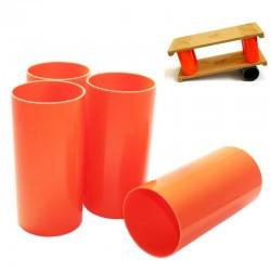 Комплект вертикальных цилиндров для балансборд (в комплекте 4 шт), высота 20 см, диаметр 10 см